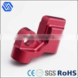 Red anodized machine turning parts high precision cnc machined aluminum parts