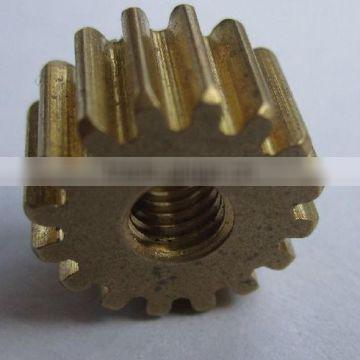 High quality durable brass cylindrical spur gear with hobbing service